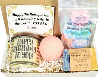 Custom Birthday Gift Box, Gift Ideas, Happy Birthday Gift Box, Happy Birthday Gift Basket, Birthday Gifts Ideas, Birthday Gifts For Her