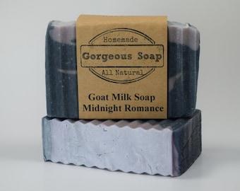 Midnight Romance Goat Milk Soap - All Natural Soap, Handmade Soap, Homemade Soap, Handcrafted Soap