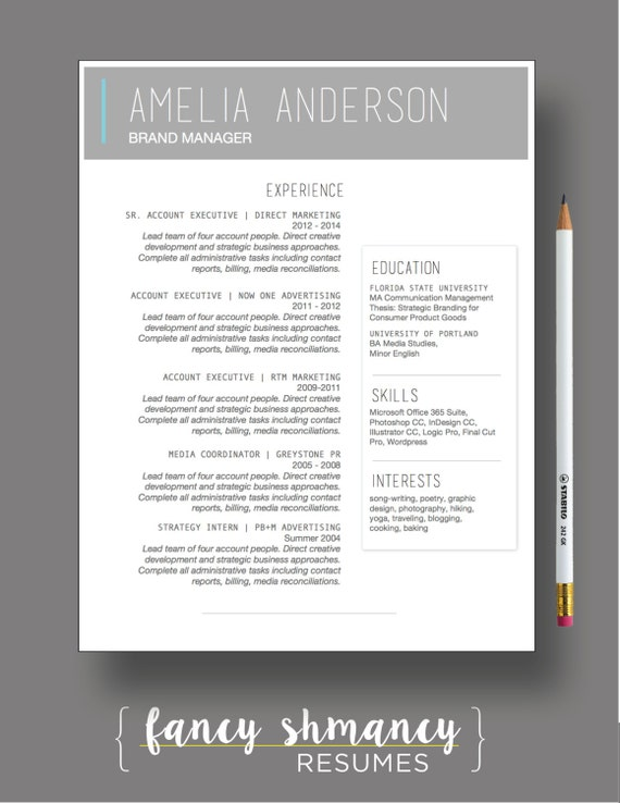 resume template the laura modern resume