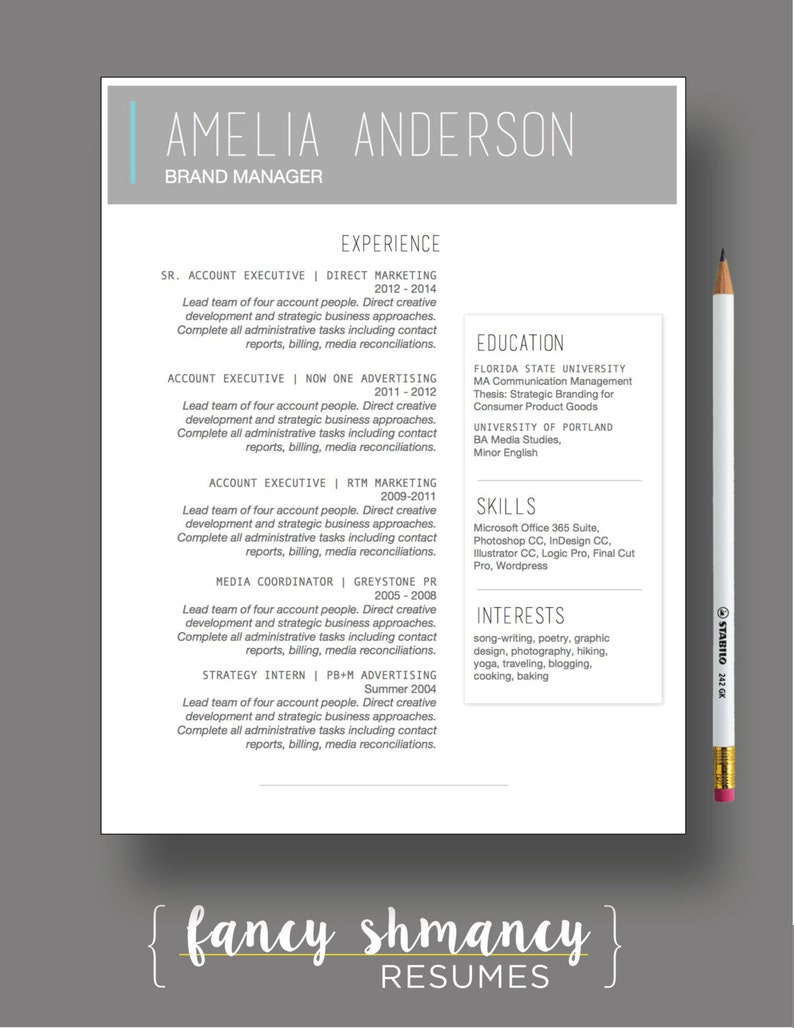 Resume Template The Laura Modern Resume Template Instant MS Word Download Resume Cover Letter Template