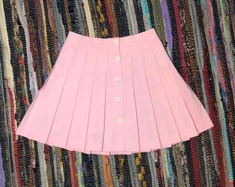 c83f4f61b Vintage Pink Pleated Tennis Mini Skirt