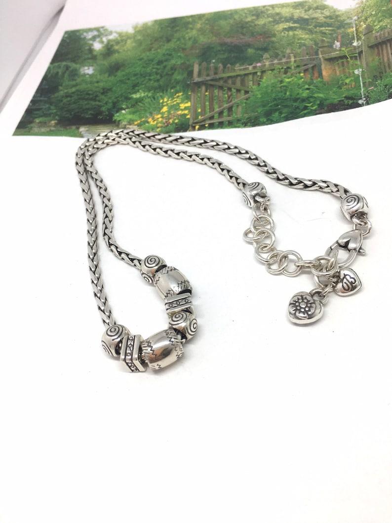 Brighton charm necklace Brighton Calypso  Etched Sliding Beads Necklace