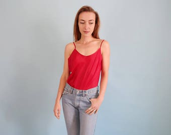 90s Vintage Minimal Burgundy/Red Camisole