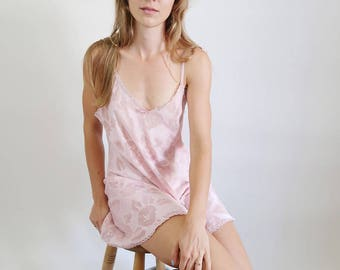 Dusty Rose/Pale Pink Vintage Slip Dress with Bows