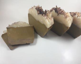 handmade soap, novelty bath soap, bath soap, pumpkin pie soap, soap made with pumpkin puree, soap made with organic virgin coconut oil, soap