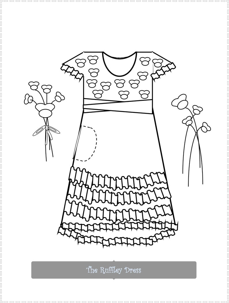 Girls Coloring Pages/Girls Colouring Pages/Kids Coloring Page Set/Doll  Fashion/Doll Clothing/Coloring Art/Activity Pages/Doll Fashion Art