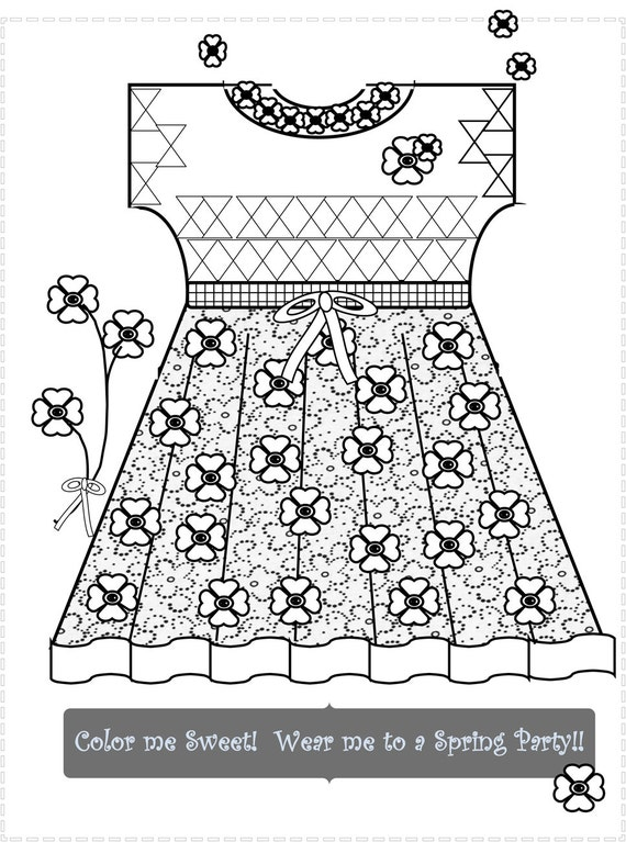 - Tween And Doll Clothes Coloring Pages Fun Relaxing Stylish Etsy