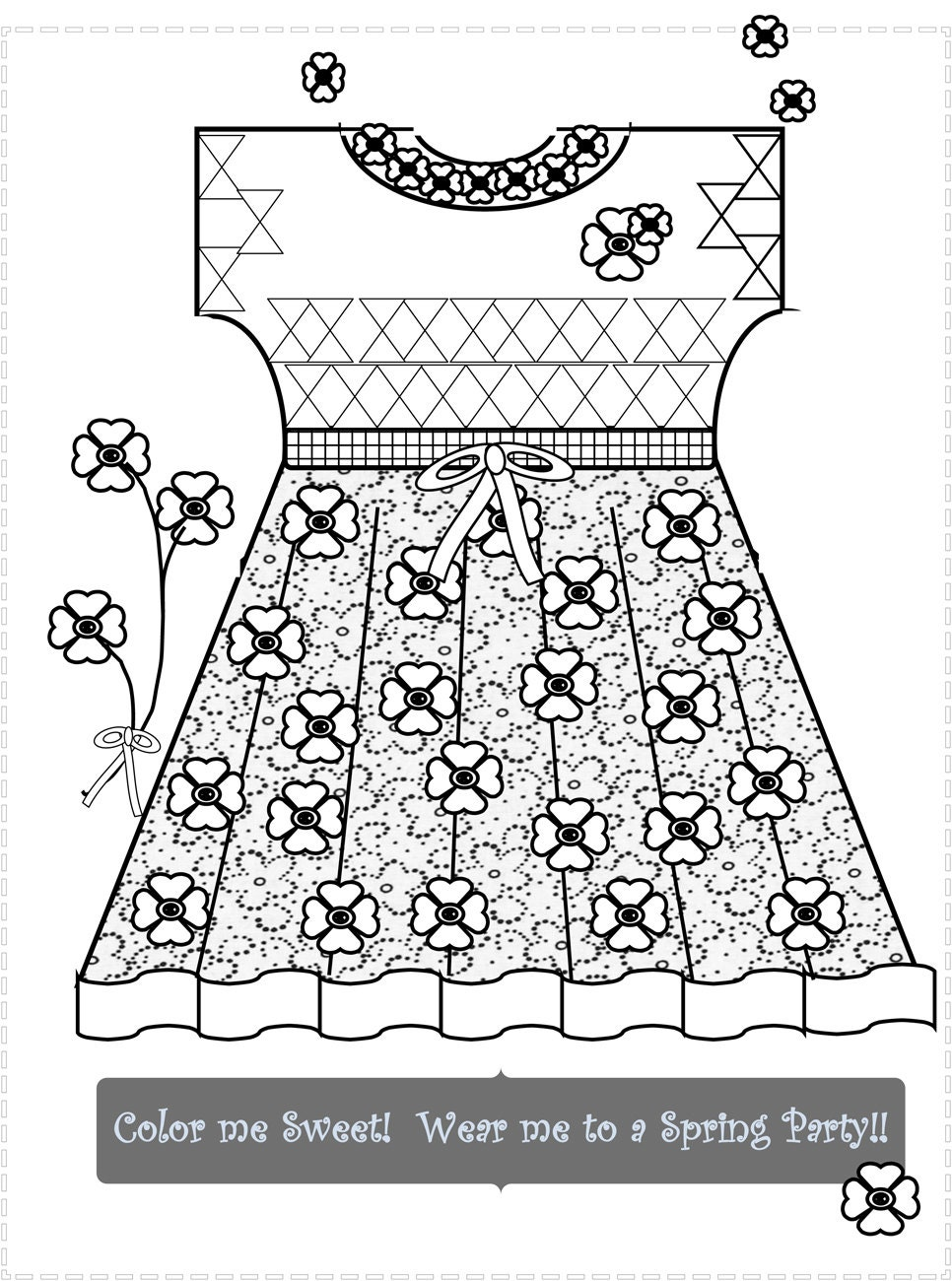 Tween and Doll Clothes Coloring Pages Fun Relaxing Stylish   Etsy