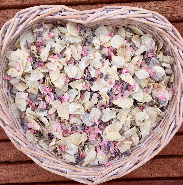 Biodegradable Confetti Wedding Natural Petals Pink Yellow Blue Spring Rose 1L