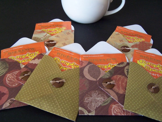 Fall Tea Favors SET of 12