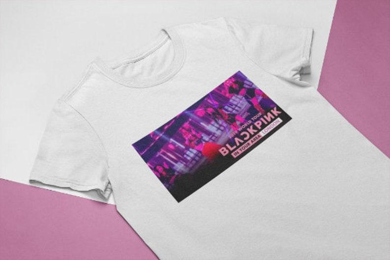 Blackpink Jisoo Jennie Lisa Rose In Your Area 2019 Unisex Tee Blackpink World Tour T-Shirt Black Pink KPop Tour Shirt