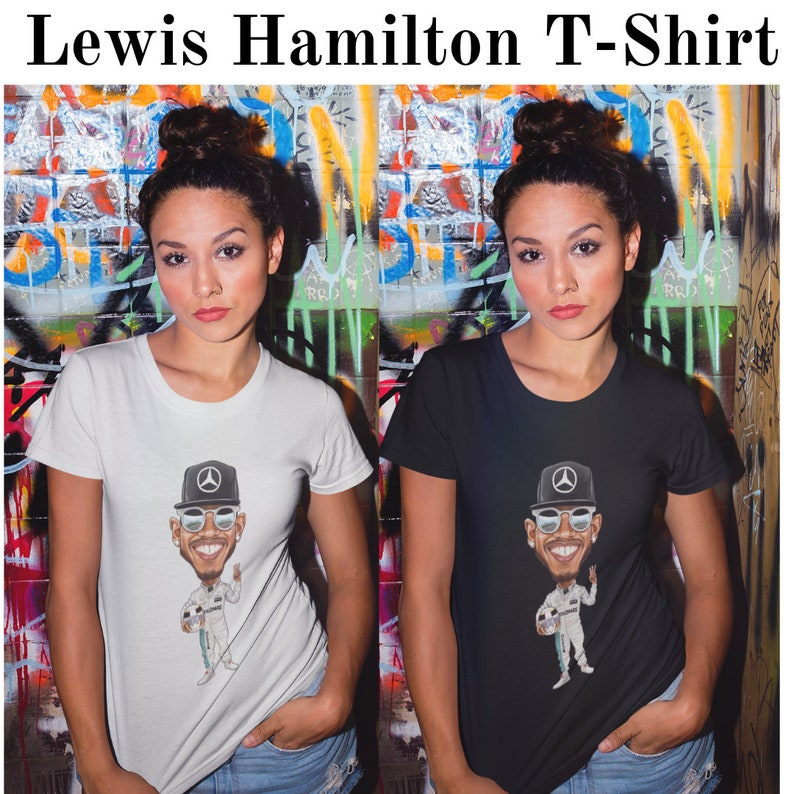 2018 Mercedes-AMG F1 Lewis Hamilton Ladies Logo T-Shirt Tee Womens Girls