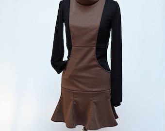 Long sleeves Street chic mini dress