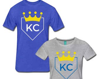 KC Royals Baseball Home Plate T Shirt both Men's and Women's