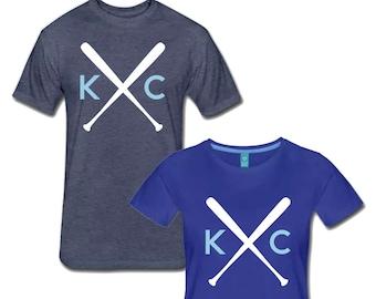 KC Crossbats Kansas City Royals KC Baseball Men's and Women's T Shirt