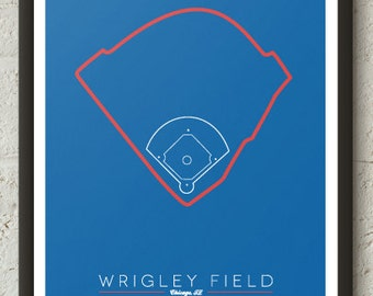 Chicago Cubs Wrigley Field Poster