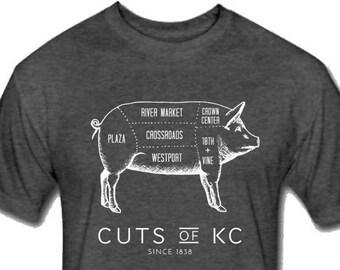 Cuts of KC Butcher Shop Style Unisex T Shirt - Multiple Colors Available