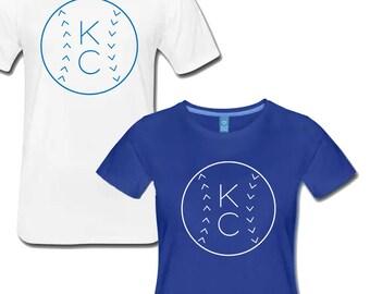 Men's and Women's Kansas City Royals KC Baseball T Shirt