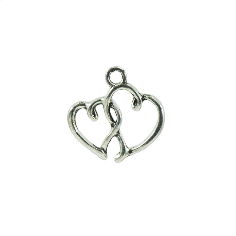 50Pcs Silver Oval Beads DIY MADE WITH LOVE Charms Pendant for Jewelry Making