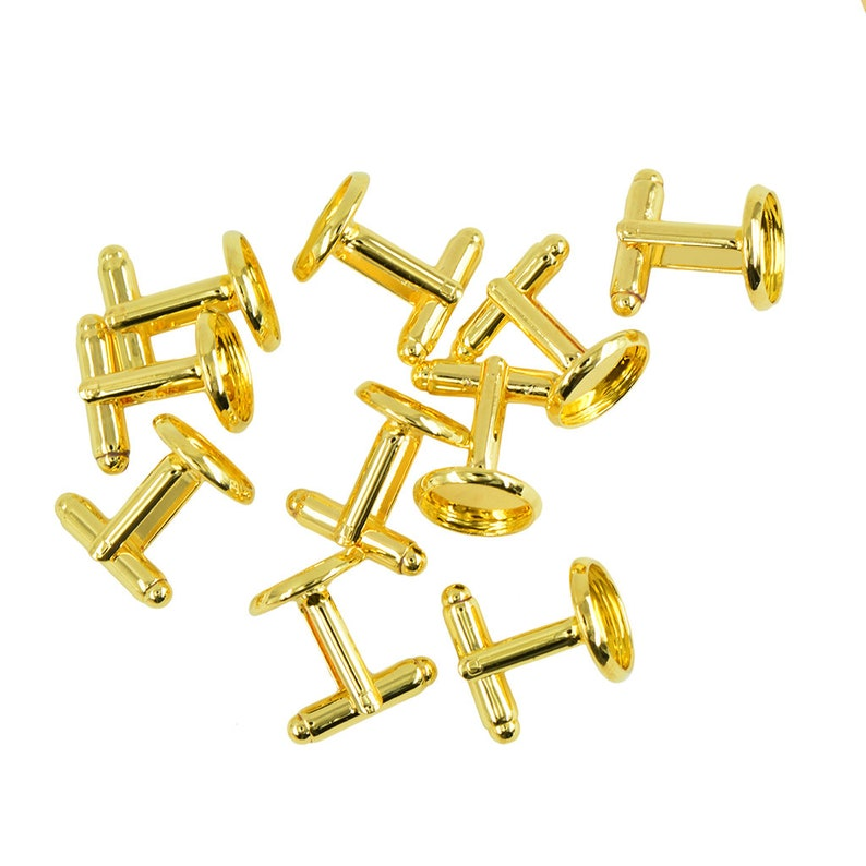 10pcs 12 mm Round Pad GoldSilverretro antique bronze blank Cabochons bezel setting DIY cufflink cuff links
