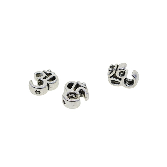 Tibetan Silver spacer Beads Fit DIY Charm Bracelet 30-100pcs 5x4mm hole 2mm A#