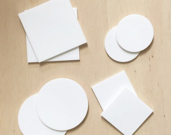 Itajime shibori acrylic shapes. Create traditional japanese fabric designs with Indigo dye