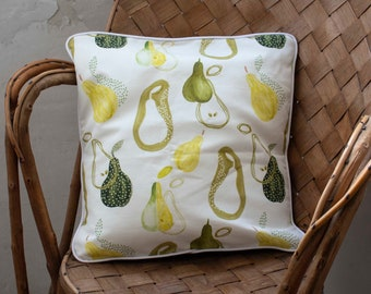 """Cushion cover  with piping """"Pears"""""""