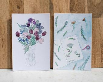 "Postcards ""Garden Flowers"""
