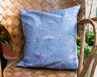 """Cushion cover """"HERBARIUM from the ALPS"""""""