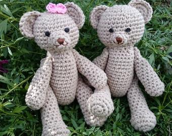 Benny Bear The Classic Teddy Crochet Pattern Amigurumi Photography prop