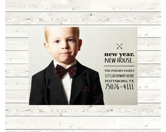 Philbin Moving Announcement, New Address Announcement, Printable Announcement, Photo Moving Announcement, Digital File, Printed Card, 5x7