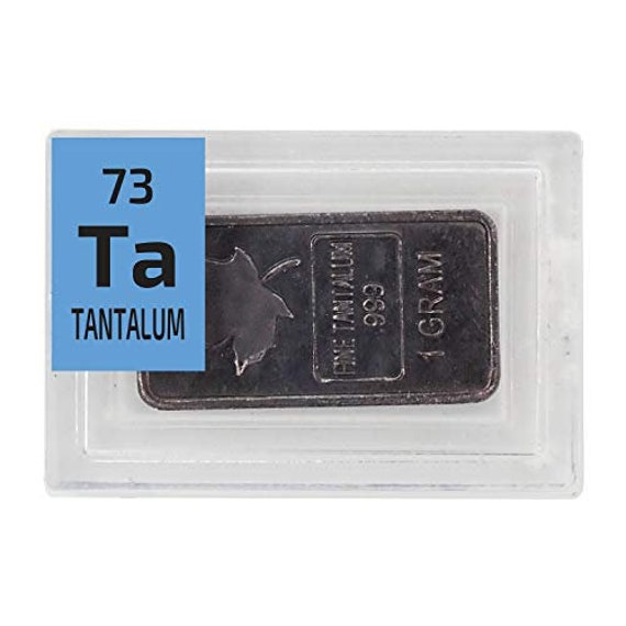 1 Gram Tantalum Bullion Bar Maple Leaf Design
