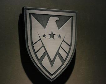 "Marvels Agents of SHIELD ""REAL SHIELD"" inspired plaque Strategic Homeland Intervention Enforcement Logistics Division"