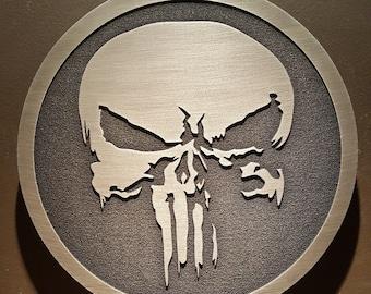 The Punisher inspired skull plaque