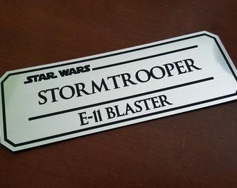 Stormtrooper E11 blaster data plate Version 2