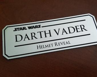 Darth Vader helmet reveal data plate