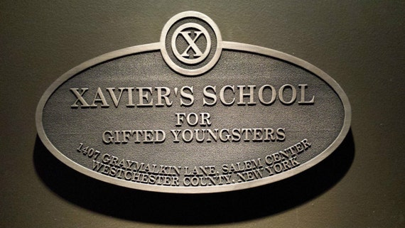 X Men's xavier's school for gifted youngsters replica sign