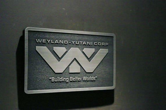Weyland Yutani Corp Metal Wall Plaque Art