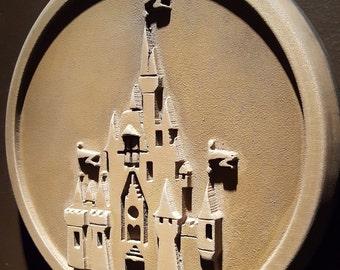 Disney World Magic Kingdom Gateway plaque replica unaged finish