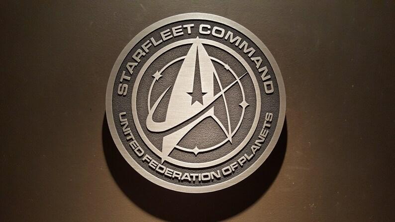 Star Trek Starfleet Command united federation of planets plaque