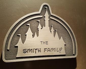 customizeable Disney inspired castle plaque