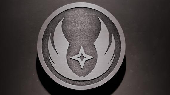 Star Wars Gray Jedi Order Plaque Sign Etsy