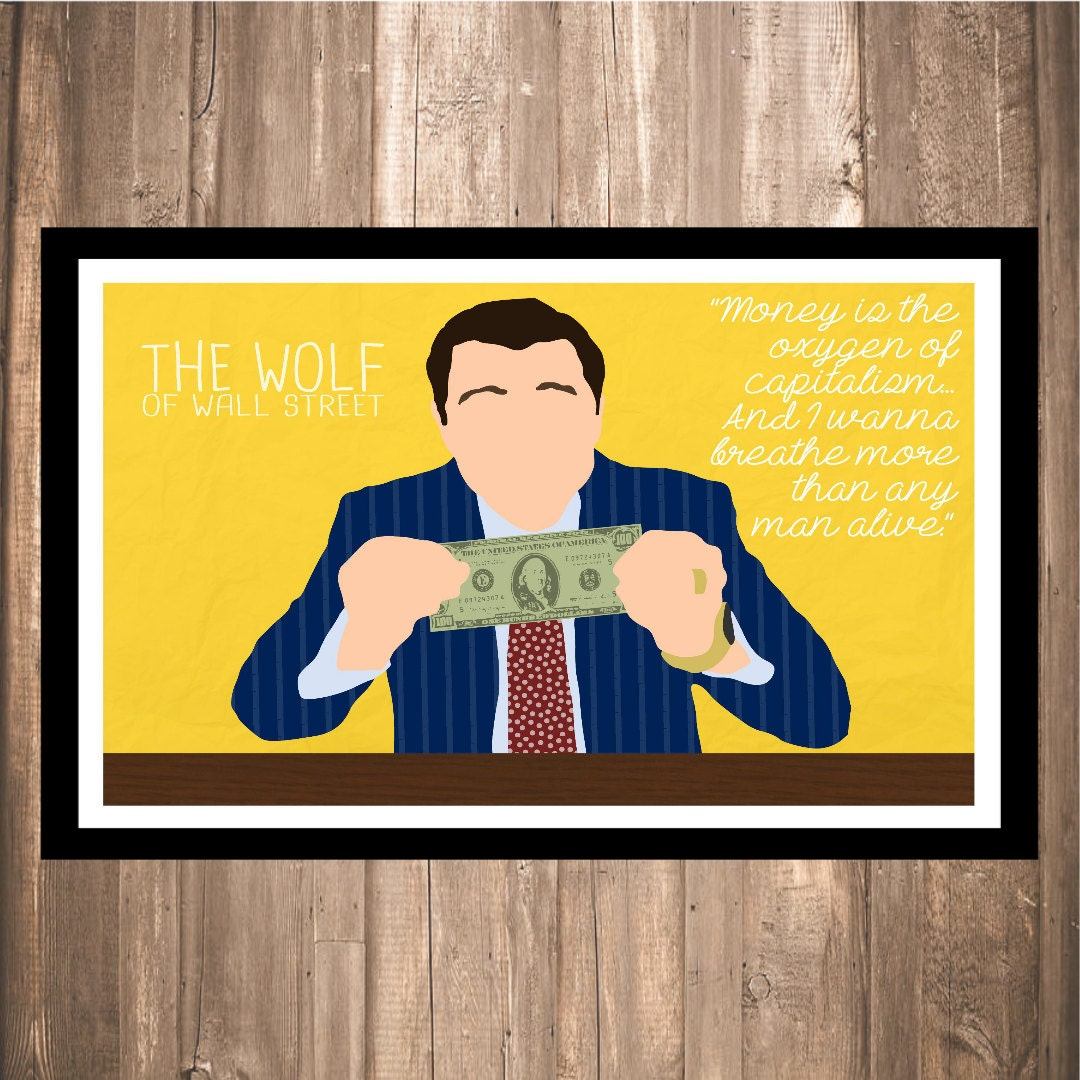 INSTANT DOWNLOAD The Wolf of Wall Street Money is | Etsy