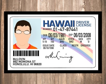 "INSTANT DOWNLOAD - Superbad ""McLovin"" Print"