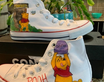 Custom painted Converse shoes INSPIRED by Disney s Winnie the Pooh 02a2eaef4