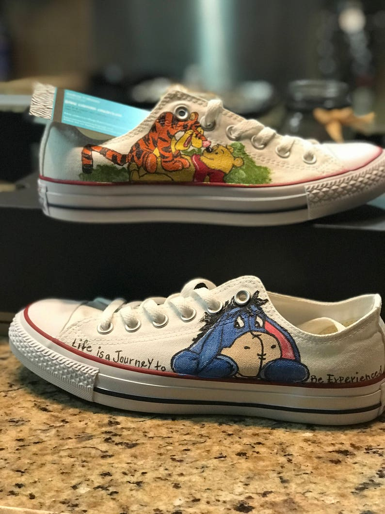 e97cfec8afd44 Custom Painted Converse inspired by Winnie the Pooh!