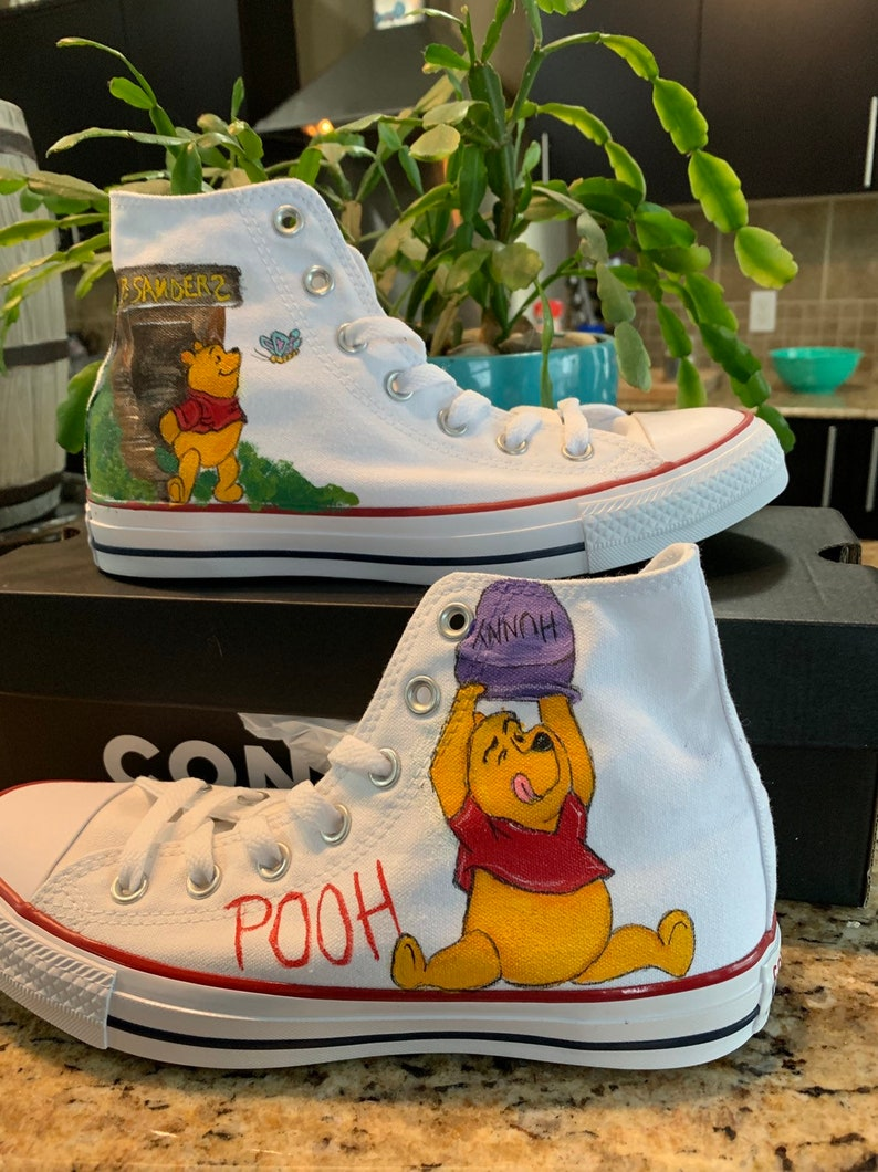 da57fa4804224 Custom painted Converse shoes INSPIRED by Disney's Winnie the Pooh