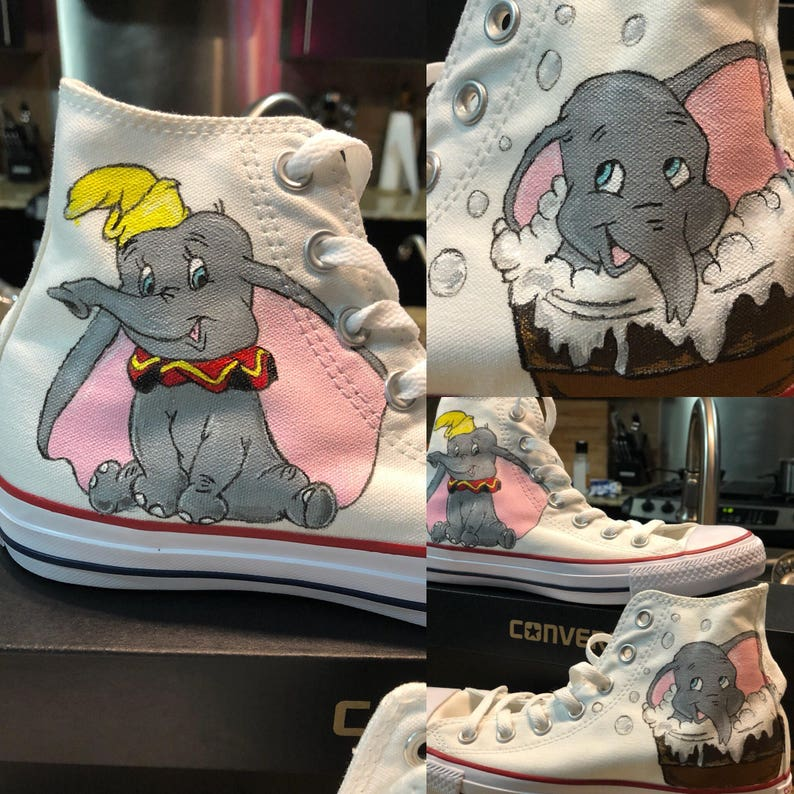 077c2eb40fc1 Custom Painted Converse High Tops Inspired by Disney s