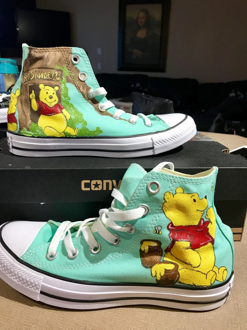 fd45a25574ed Custom painted Converse High Tops Inspired by Disney s