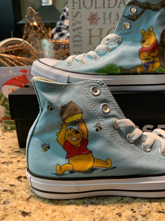 Converse personnalisé inspiré Winnie lourson de Disney | Etsy